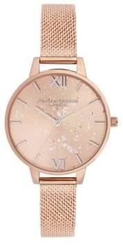 Olivia Burton Stainless Steel Speckled Watch