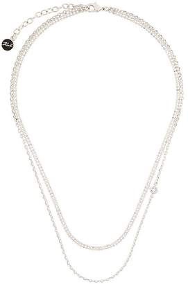 Karl Lagerfeld double chain necklace