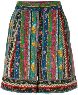 Philosophy di Lorenzo Serafini floral striped shorts