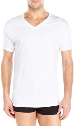 Hanes 3-Pack White V-Neck T-Shirts