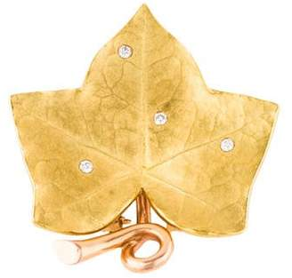 Raymond C. Yard Diamond Leaf Brooch