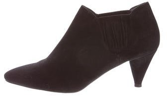pradaPrada Suede Pointed-Toe Ankle Boots