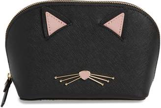 Kate Spade Cats Meow Small Abalene Leather Cosmetics Case