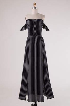 Love Tree Classic Black-Stripes Dress