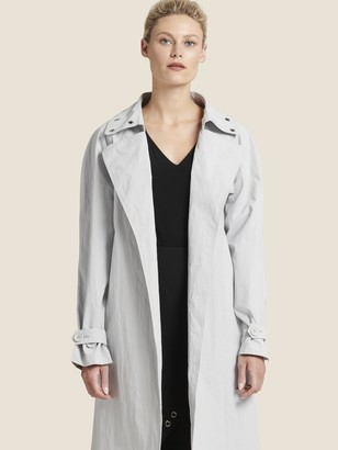 DKNY Trench Coat With Grommet Detail