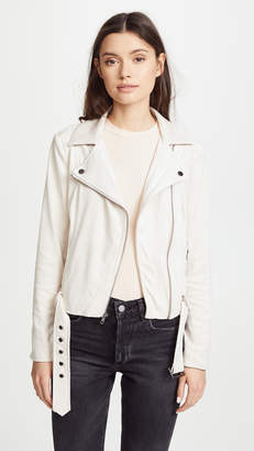 Cupcakes And Cashmere Manele Faux Suede Moto Jacket