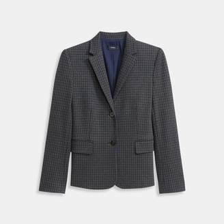 Houndstooth Knit Shrunken Jacket