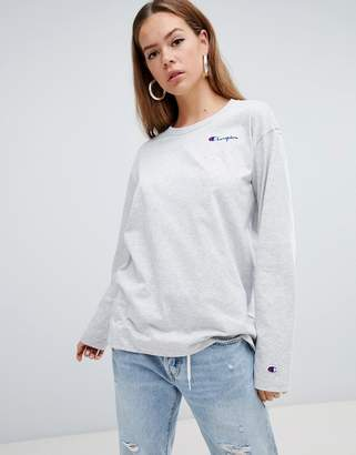 Champion oversized long sleeve t-shirt with front script logo