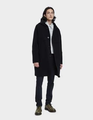 Our Legacy Felt Duffle Coat in Black Cocoon Wool