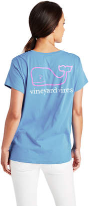 Vineyard Vines Two-Toned Vintage Whale Relaxed Pocket Tee