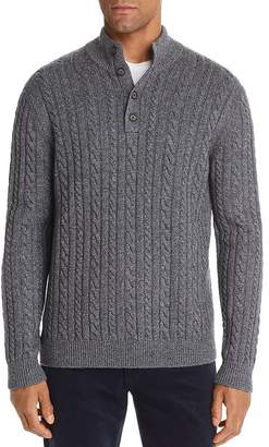 Bloomingdale's The Men's Store at Half-Button Cable Sweater - 100% Exclusive
