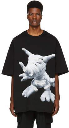 Juun.J Black Graphic Mummy T-Shirt