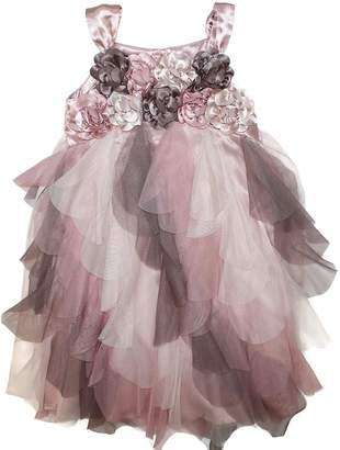 Biscotti Girl's Floral Strappy Special Occasion Dress