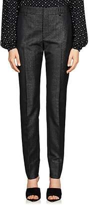 Saint Laurent Women's Virgin Wool-Blend Twill Slim Trousers - Black
