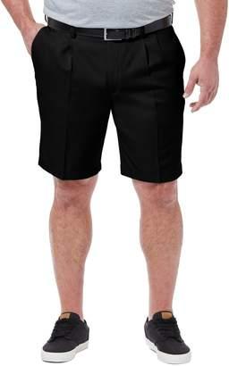 Haggar Big & Tall Cool 18 PRO Classic-Fit Pleated Shorts