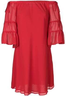 L'Autre Chose off-the-shoulder shift dress