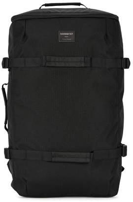 SANDQVIST Zack Black Canvas Backpack