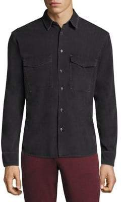 J. Lindeberg David Cotton Button-Down Shirt