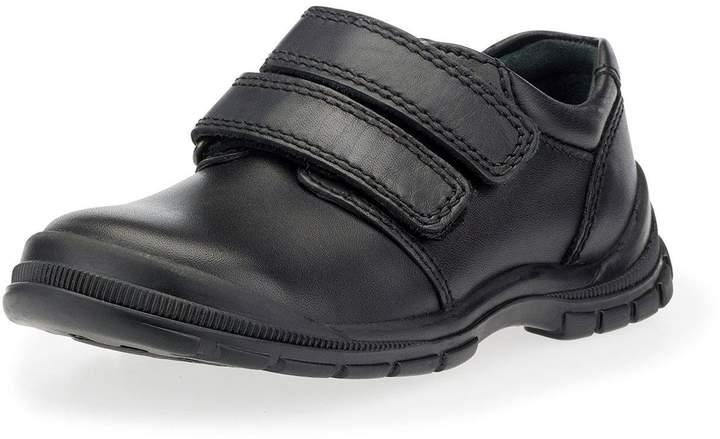 Start-rite Boys Engineer Velcro Strap School Shoe - Black