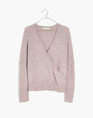 Madewell Wrap-Front Pullover Sweater in Coziest Yarn