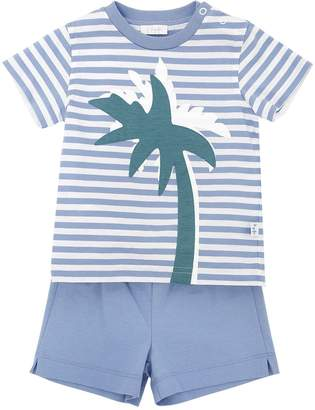 Il Gufo Palm Tree Cotton Jersey T-Shirt & Shorts