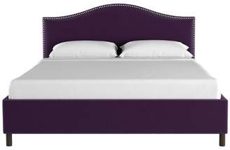 Skyline Furniture Nail Button Platform Bed in Velvet