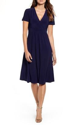 e30094cfd7aa0 Anne Klein Matte Jersey Fit & Flare Dress