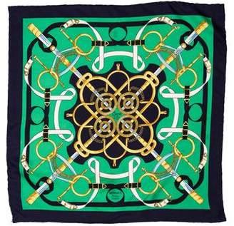 Hermes Eperon D'Or Pocket Square