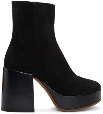 MM6 MAISON MARGIELA Black Thick Heel Boots