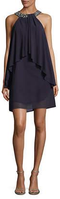 Vince Camuto Chiffon Overlay Sleeveless Dress