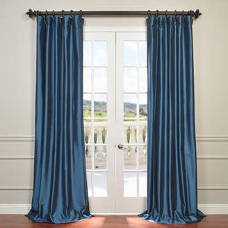 Astoria Grand Lochleven Solid Faux Silk Taffeta Rod Pocket Single Curtain Panel