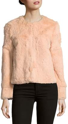 Adrienne Landau Women's Rabbit Fur Jacket