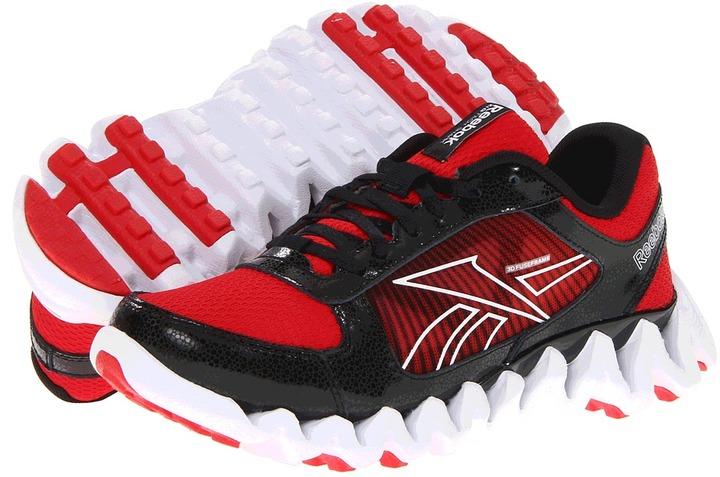 Reebok Kids - Zigtech Shark Pursuit360 (Big Kid) (Red Attack/Black/White) - Footwear