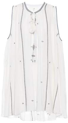Etoile Isabel Marant Isabel Marant, Étoile Embroidered cotton swing dress