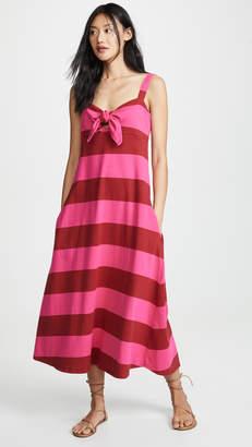 MDS Stripes Tie Front Dress
