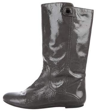 Marc by Marc Jacobs Patent Leather Mid-Calf Boots