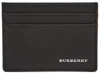 Burberry Grained Leather Cardholder - Mens - Black