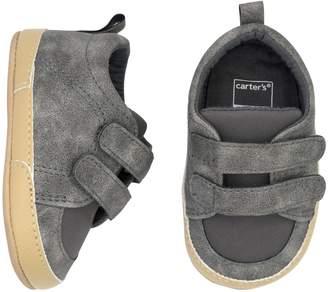 Carter's Baby Boy Gray Sneaker Crib Shoes