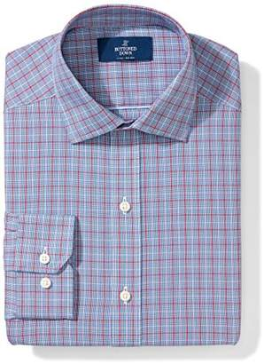 Buttoned Down Men's Fitted Pattern Non-Iron Dress Shirt (3 Collars Available)