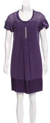 Gerard Darel Knee-Length Silk Dress
