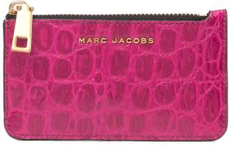Marc Jacobs Croc & Snake Embossed Leather Key Pouch