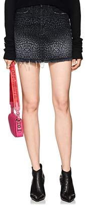 Marcelo Burlon County of Milan Women's Leopard-Print Denim Miniskirt