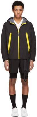 BLACKBARRETT by NEIL BARRETT Black and Yellow Heatseal Pocket Windbreaker Jacket