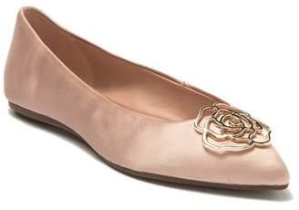 Taryn Rose Fiona Satin Pointed Toe Ballet Flat
