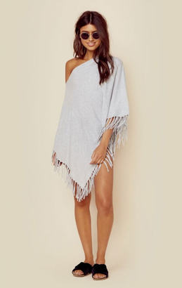 Minnie rose cotton fringe ruana $114 thestylecure.com