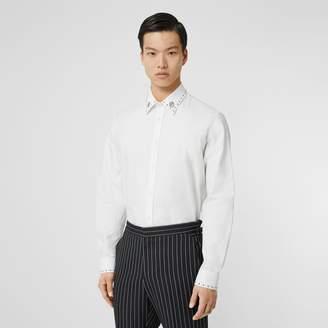 Burberry Classic Fit Stud Detail Cotton Oxford Shirt