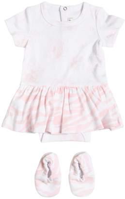 Kenzo Printed Cotton Jersey Bodysuit & Booties