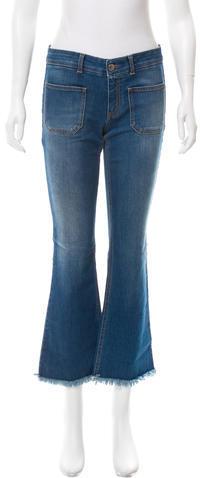 Stella McCartneyStella McCartney Fringe-Trimmed Straight-Leg Jeans