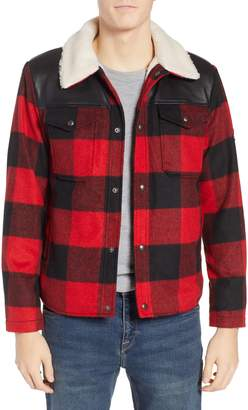 Penfield Flatrock Buffalo Check Jacket with Faux Shearling Collar & Lining