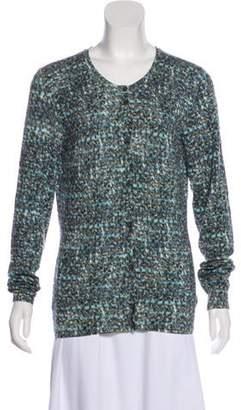 Dolce & Gabbana Printed Button-Up Cardigan Blue Printed Button-Up Cardigan
